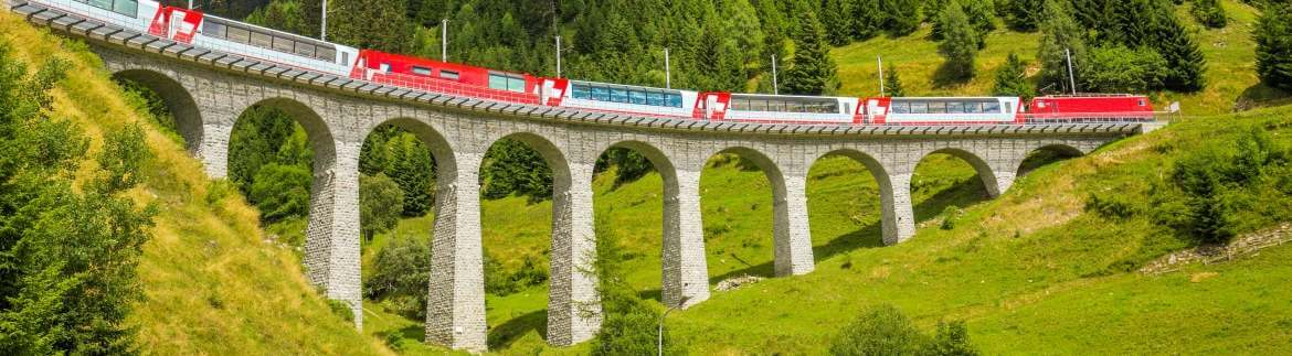 Bernina Express - panoramic railway through Switzerland
